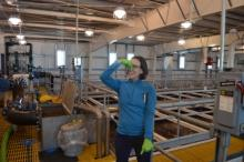 Michelle at the Waste Water Treatment Plant