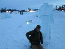 Chilling in the Ice Park.