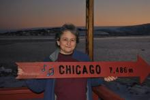 Paula in Antarctica