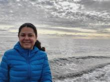 Monica Nunez at the Chukchi Sea
