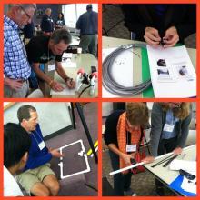 Participants building ROVs