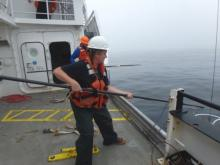 Guiding the CTD out of water
