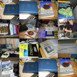 A collage of some of the reading material found on board the USCGC Healy. Photo by Ute Kaden (TREC 2005), Courtesy of ARCUS