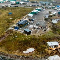 An aerial view of Toolik Field Station