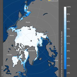 Graphic of sea ice concentration in the Arctic