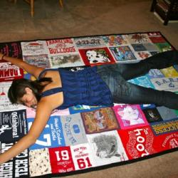 Beth Ann and her quilt