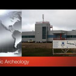 Screen shot of video title Arctic Archeology