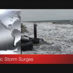 Screen shot of video title Arctic Storm Surges