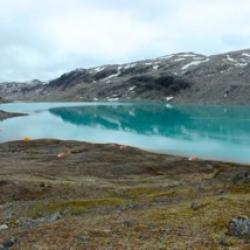 Base Camp 2 -- beautiful glacial blue water