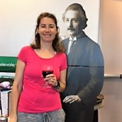 Adeena Teres with Albert Einstein