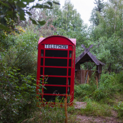 Phone booth outhouse