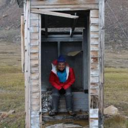 Outhouse at RCMP Post