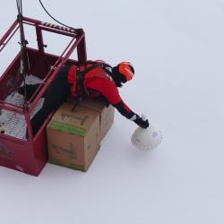 Coast Guard Crew deploying Float Boat Boxes 1 & 2