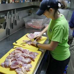 Laura Whitmore Preparing Chicken