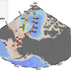 2015 US Arctic GEOTRACES Station Map