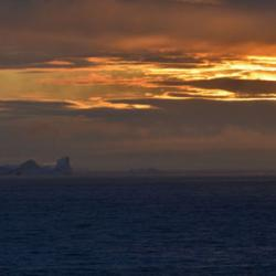 Icebergs at Sunset, Southern Greenland