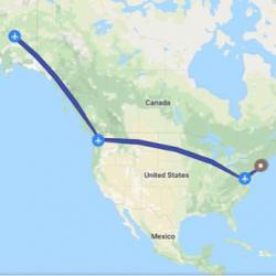 Springfield, MA to Fairbanks, AK