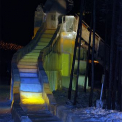 A humungous ice slide