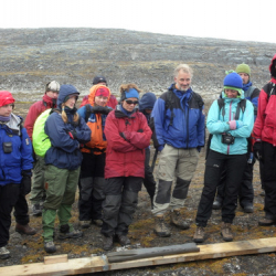 Norwegian group and the extruded sediment core.