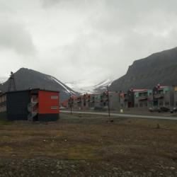 My blue and orange home in Longyearbyen