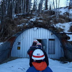 Entering the Permafrost Tunnel