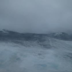 The Southern Ocean from the galley port hole