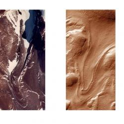 Image of viscous flow in Beacon Valley and on Mars.