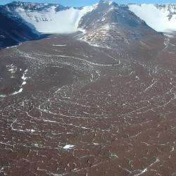 Image of debris flow on Mullins Glacier.