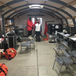 Operations tent