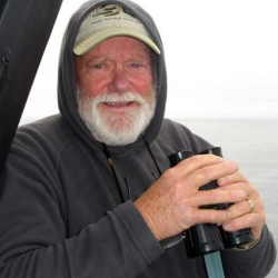 Gary looking for right whales.