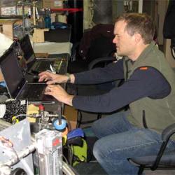 David Shull starting quantitative sampling data collection.