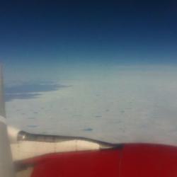 Greenland ice sheet boundary