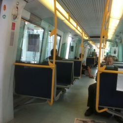 Riding the metro to Copenhagen International Airport