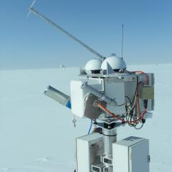 BSRN - with new solar tracker - Summit Station, Greenland