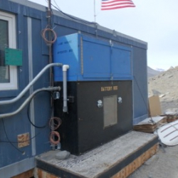 Batteries and inverter at Lake Hoare