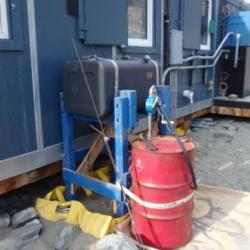 Diesel fuel for heating Lake Hoare hut