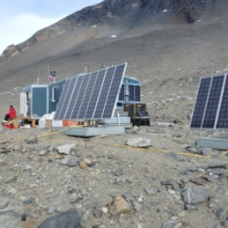 Solar panels at Lake Hoare