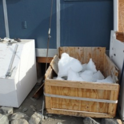 Ice supply for drinking water