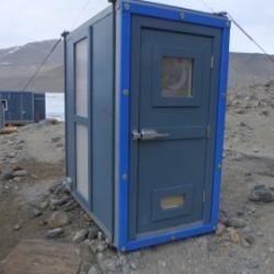 Rocket Toilet at Lake Hoare