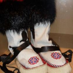 Native leather and bead work