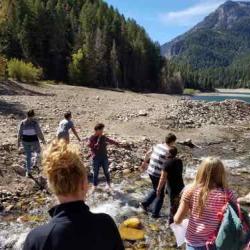 Measuring Stream Flow (photo credit Gracelyn Ullery)