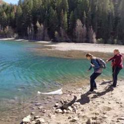 Dragging Plankton Net (photo credit Gracelyn Ullery)