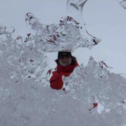 """Dr. Tom """"Topper"""" Powers through ice"""