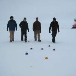 Playing Bocce Ball