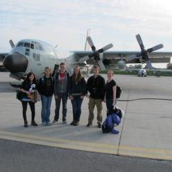 U.S. participants about to board LC-130