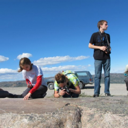 U.S. participants studying glacial polish