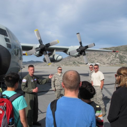 JSEP gets a tour of the LC-130