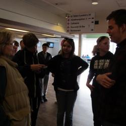 Syaing goodbye to the Danish students