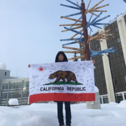 California state flag at UAF