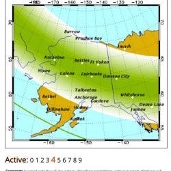 Geophysical Institute, University of Alaska Fairbanks, Aurora Forecast! September 12, 2017.  Screen shot by Lisa Seff.